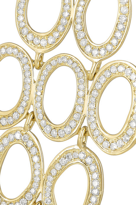 Ippolita Stardust 18-karat gold diamond earrings