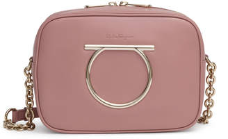 Salvatore Ferragamo Gancini dusty pink camera bag