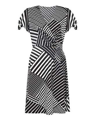 Yumi Curves Stripe Wrap Dress