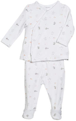 Angel Dear Take Me Home Ditsy Rabbit 2-Piece Outfit Set, Size Newborn-3 Months