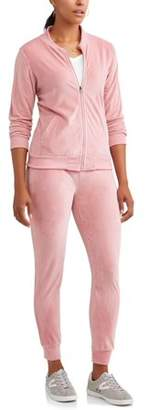 ONLINE Women's Velour Bomber Jacket and Jogger Pant Tracksuit