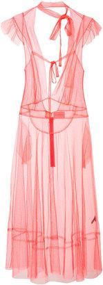 Les Animaux tie-neck sleeveless dress
