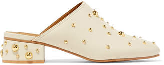 See by Chloe Studded Leather Mules - Cream