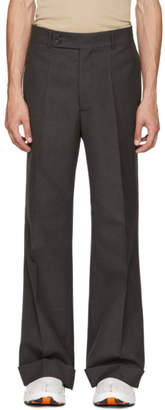 Maison Margiela Grey Rolled Cuff Trousers