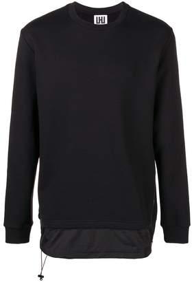 Les Hommes layered hem sweatshirt