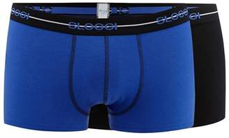 Sloggi Pack Of Two Blue And Black Plain Hipster Briefs