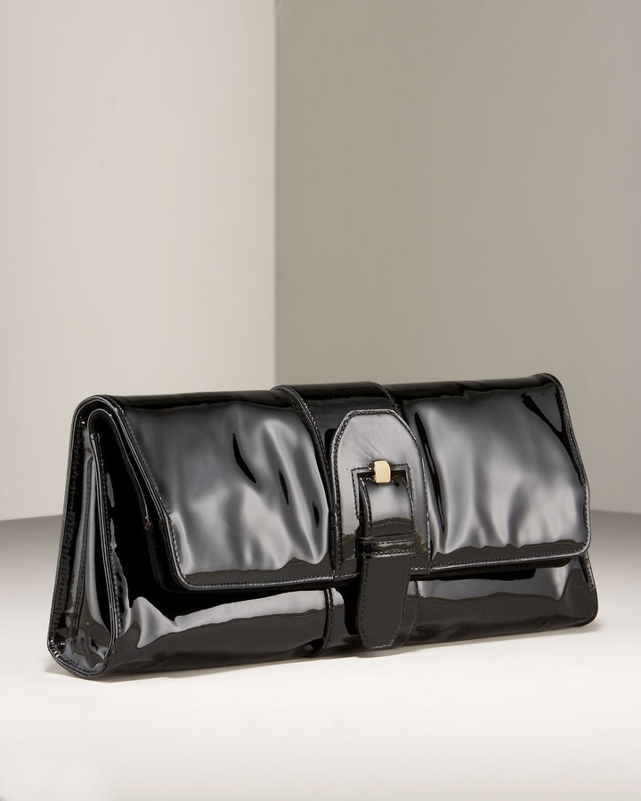 Christian Louboutin Liv Buckled Patent Clutch