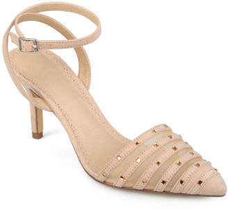 Journee Collection Womens Meera Pumps Buckle Pointed Toe Stiletto Heel