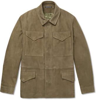 Richard James Slim-Fit Suede Field Jacket