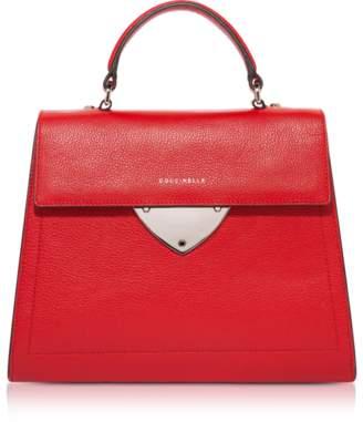 Coccinelle B14 Tumbled Leather Satchel Bag