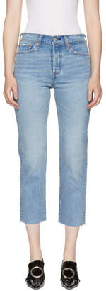 Levi's Levis Blue Wedgie Straight Jeans
