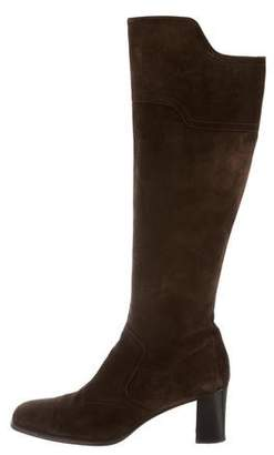 Hermes Knee-High Suede Boots