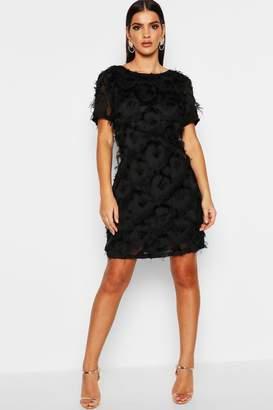boohoo Fringed Mini Shift Dress