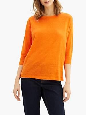 Jaeger Linen Jersey Top, Orange