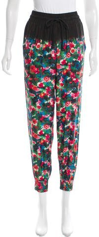Band Of Outsiders Band of Outsiders Floral Print Silk Joggers