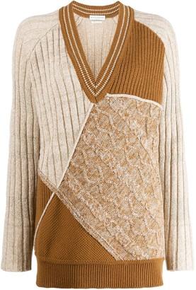 Ballantyne colour blocked knitted jumper