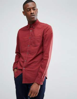Esprit Brushed Oxford Shirt In Red