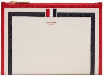 Thom Browne Tricolor Large Pouch $550 thestylecure.com