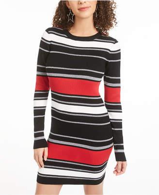 Planet Gold Juniors' Striped Bodycon Dress