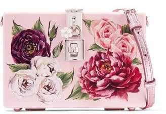 Dolce & Gabbana Dolce Box Floral-print Acrylic Shoulder Bag - Pink