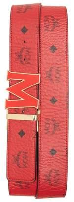 MCM Logo Print Belt