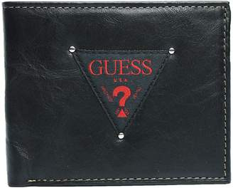 GUESS New Men's Leather Passcase Double Billfold Credit Card Wallet