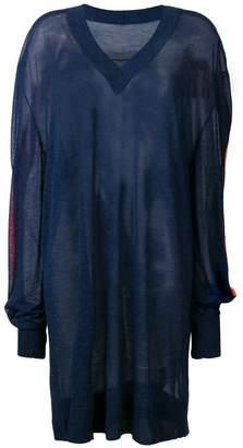 Maison Margiela oversized v-neck jumper