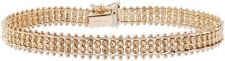 """Imperial Gold 8"""" Woven Sparkle Bead Bracelet 14K, 14.4g"""