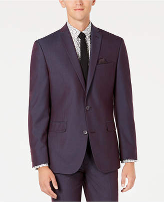 Bar III Men Slim-Fit Stretch Solid Iridescent Suit Jacket