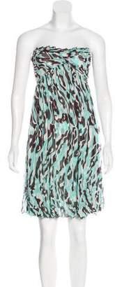 Diane von Furstenberg Silk Strapless Dress