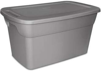 Sterilite 30 Gallon Tote Plastic Storage Box- Steel with Lid