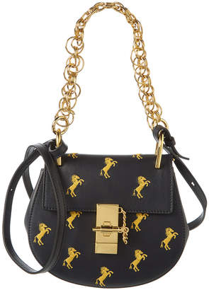 Chloé Drew Bijou Embroidered Horse Mini Leather Shoulder Bag