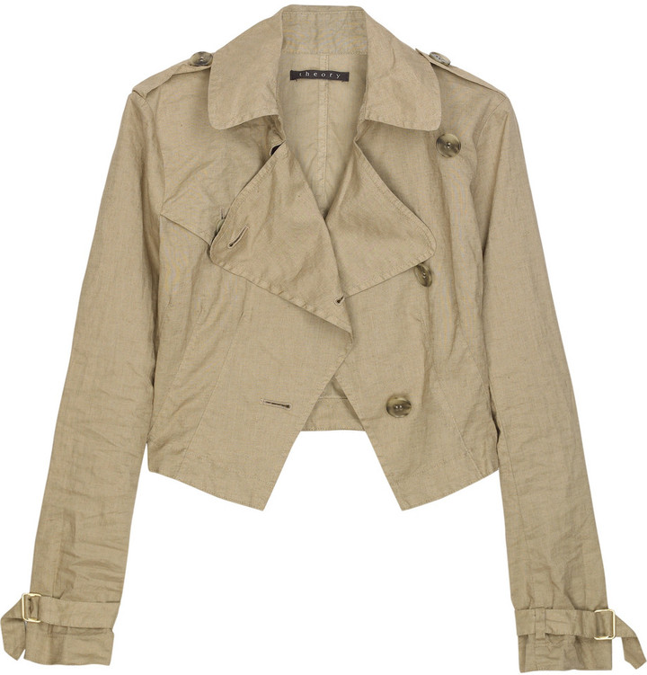 Theory Asymmetric cropped jacket