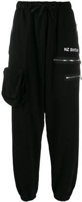 Natasha Zinko high-waist multipocket track pants