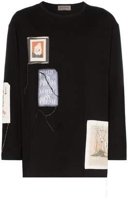 Yohji Yamamoto Patchwork long-sleeve T-Shirt