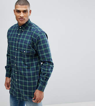 Polo Ralph Lauren Big & Tall Check Oxford Shirt In Dark Green