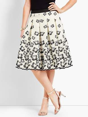 Talbots Organza Pleated Skirt