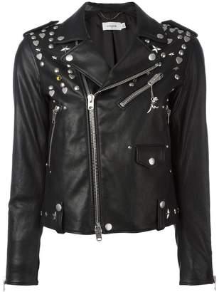 Coach multi-studded biker jacket