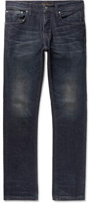 Nudie Jeans Grim Tim Organic Stretch-Denim Jeans - Dark denim
