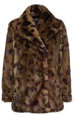 Only Leopard-Print Faux Fur Coat