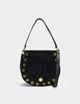 See by Chloe Kriss Small Hobo Bag in Black Grained Cowhide Leather and Suede Leather