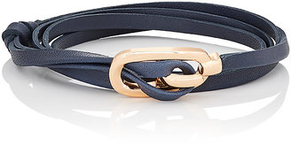 Miansai MIANSAI WOMEN'S GAMLE CLASP ON LEATHER WRAP BRACELET $50 thestylecure.com