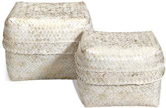 Marks and Spencer Hand Woven Set of 2 Bamboo Boxes