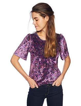 Lucky Brand Women's Printed Velvet TOP
