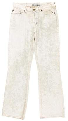 Just Cavalli Distressed Straight-Leg Jeans