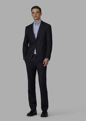 Giorgio Armani Slim-Fit Half-Canvas Woven Twill Soho Suit