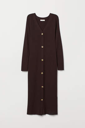 H&M Fitted Dress - Brown