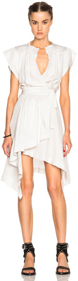 Isabel Marant Lief Silk Dress $865 thestylecure.com