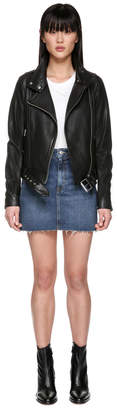 Mackage HANIA biker style leather jacket with belt