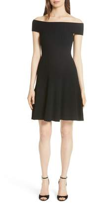 KATE SPADE NEW YORK off the shoulder sweater dress
